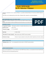 Touchwood 2 PK PU Interior Thinner