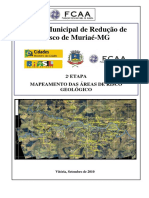 PMRR Muriae Mapeamento Areas Risco Geologico