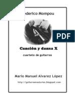 Mompou F. Canción y Danza X