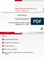 Meshfree Approximation With MATLAB Lecture