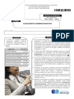 Instituto Aocp 2015 Ebserh Assistente Administrativo Prova UFJF