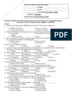 Diagnotic Test MAPEH