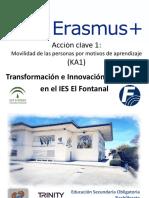 Presentación Erasmus+ IES El Fontanal