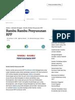Rambu Rambu Penyusunan RPP - Silabus