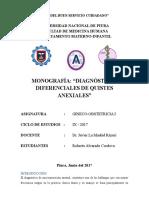 Monografía de Quistes Anexiales