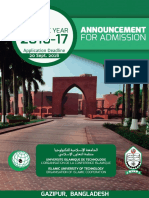 IUT Announcement for Admission Brochure 2016