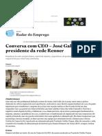 Conversa Com CEO – José Galló, Presidente Da Rede Renner