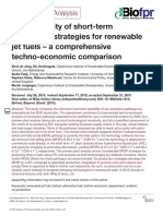 The Feasibility of Short Term Production Strategies for Renewable Jet Fuels