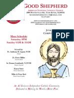 Good Shepherd American National Catholic Church Weekly Bulletin
