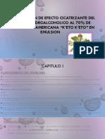 DETERMINACION DE EFECTO CICATRIZANTE DEL EXTRACTO HIDROALCOHOLICO AL.pptx