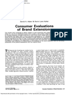 Aaker Keller 1990 Consumer Evaluation of Brand Extension