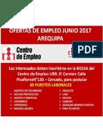 Ofertas de Empleo Junio 2017
