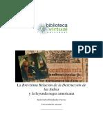 Brevísima Relación y Leyenda Española