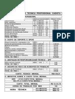 Tabela de Honorarios Profissionais 2017