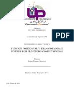 FUNCION POLINOMIAL Y TRANSFORMADA Z INVERSA POR EL METODO COMPUTACIONAL