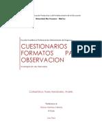 Cuestionario y Observacion