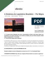 A Dinâmica do Legislativo Brasileiro – Por Mayra Matuck Sarak | Empório do Direito