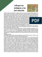 Factores Fisiologicas Futbol Reducido
