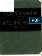 Students Manual of Machine Sewing July 1941