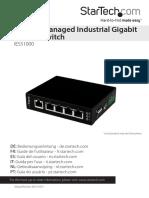 5 Port Unmanaged Industrial Gigabit Ethernet Switch