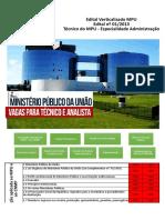 Edital Verticalizado MPU Te Cnico Adm Revisado
