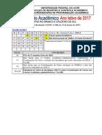 Calendário Acadêmico de 2017