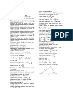 Dynamics Formulae