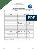Formato Analisis de Precios Unitarios VILLACÍS