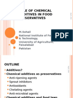 Chemical Additives as Food Preservatives