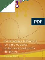 De la Teoría a la Práctica - Un paso adelante en la transversalizacion de género.pdf