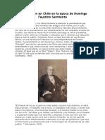 La Educación en Chile en La Época de Domingo Faustino Sarmiento