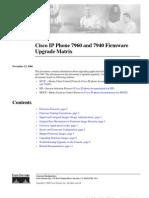 Cisco 7960 Firmware Upgrade Matrix