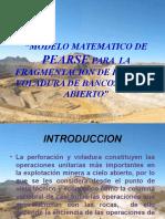312325835 Modelo Matematico de Pearse Para La Fragmentacion de Rocas en Voladura de Bancos a Cielo Abierto