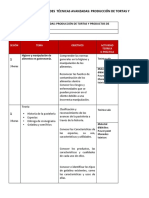 Cronograma Gastronomico Pasteleria Prod Tortas