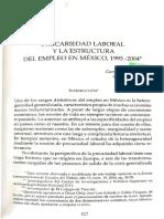 Precariedad Laboral y La Estructura Del Empleo en Mexico