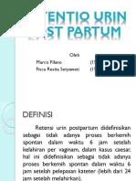 Retentio Urin Post Partum Sip