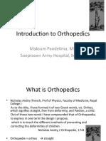 Introduction to Orthopedics