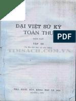 (1697) Đại Việt Sử Ký Toàn Thư - Tập 3 - Ngô Sĩ Liên - Viện Sử Học