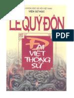 (1749) Đại Việt Thông Sử - Lê Quý Đôn - Viện Sử Học