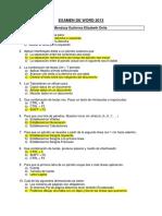 Examen de Word 2013