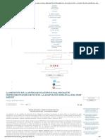La Medición de La Inteligencia Emocional Mediante Instrumentos de Ejecución_ La Adaptación Española Del Test Msceit