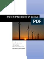 Implementación de Un Parque Eólico