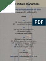 [Cartaz] Monitoria de Literatura Francesa