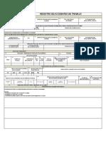 Formato Registro de Accidentes de Trabajo