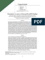 Hemispheric Assymetry of Abnormal Focal EEG Findings