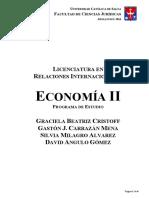 Objetivos y Contenidos Economia