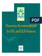 esl classroom accommodations