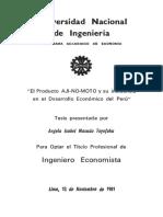 El Producto AJI-NO-MOTO y Su Incidencia - TESIS