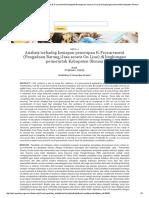 Analisis Terhadap Kesiapan Penerapan E-Procurement (Pengadaan Barang_Jasa Secara on Line) Di Lingkungan Pemerintah Kabupaten Sleman