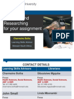 2015 Lecture Planning Your Assignment